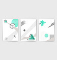 set minimalistic poster templates vector image vector image