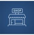 Shop line icon vector image vector image