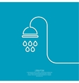 Shower handle vector image vector image