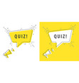speaker and tag quiz vector image vector image