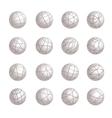 Sphere Gray logotypes icons Set vector image