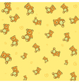 teddy bears background vector image vector image