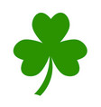 three leaf green clover hand draw lucky vector image vector image