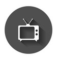 tv icon in flat style television symbol for web vector image vector image