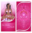 yoga girl flyer vector image vector image
