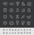 Medical Icons Black Line vector image