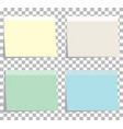 colorfull sticky notes blank sticky notes set vector image
