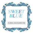 vintage blue frame with place for text decorative vector image