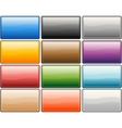 glossy media internet buttons vector image