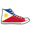 modern sport shoes with Philippines flag vector image
