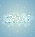 2016 new year design in light blue background vector image