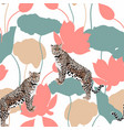 abstract a leopard animal pattern vector image