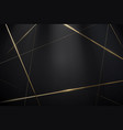 abstract black and gold lines with a luxury vector image