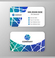 abstract mesh and polygonal name card template vector image