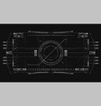 air navigation panel technology background vector image vector image