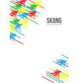 alpine skiing background