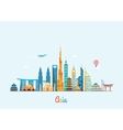 Asia skyline Travel and tourism background vector image