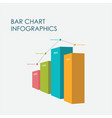 bar chart infographics elements 3d design vector image