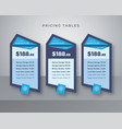 blue services list table template vector image vector image