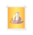 buddha statue on isolated photograph on white vector image vector image