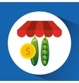 buying online peas icon vector image