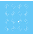 collection of flat bubbles icons vector image vector image