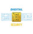 digital security vector image vector image