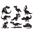 dinosaurs dino silhouette animal vector image vector image