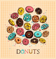 donuts set vector image vector image