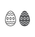 easter egg line and glyph icon food and easter vector image vector image