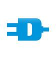 ed initials electric plug shape symbol logo design vector image vector image
