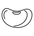 food kidney bean icon outline style vector image vector image