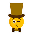 gentleman emoji blowing a kiss vector image vector image