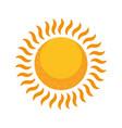 glowing sun summer hot vector image