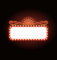 golden casino banner theater sign copy space vector image vector image