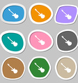 Guitar icon symbols Multicolored paper stickers vector image vector image