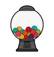 gum balls dispenser candy icon image vector image