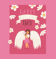 happy nons day white large wings on parent vector image vector image