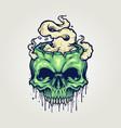 head zombie skull cannabis smoke vector image vector image