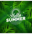 Hello Summer typographic design vector image vector image