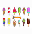ice cream collection 3 vector image vector image