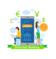 internet payment system flat vector image