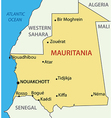 Islamic Republic of Mauritania - map vector image vector image