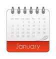 january 2019 calendar leaf template vector image