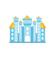 light blue fairytale royal castle or palace vector image vector image