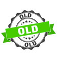 old stamp sign seal vector image vector image