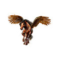 pegasus mythical winged horse from splash vector image vector image