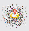 people stand around location vector image vector image