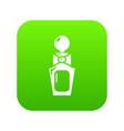 perfume bottle art icon green vector image vector image