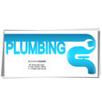plumbing repair installation business card vector image vector image